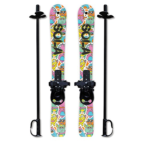 SOLA Winter Sports Kid's Beginner Snow Skis and Poles