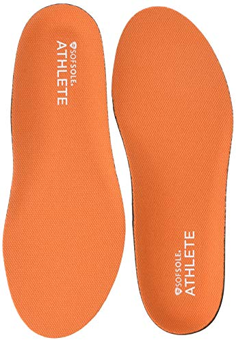 Sof Sole Women's Athlete Performance Full-Length Insole, Orange, 8-11