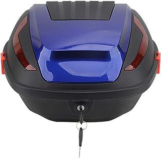YMhbx 30L Motorrad Kofferraum Topcase Koffer Verdicktes PP Helmkoffer Motorradkoffer Mit Sicherheitsschloss,Diebstahl,Mehrfarben