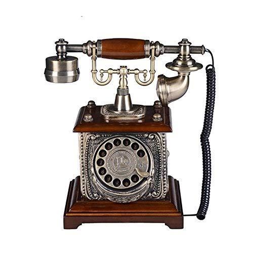 YUBIN Teléfono Teléfono Europeo Retro Familia Máquina Fija Fija Máquina de fijación mecánica Teléfono de marcación giratoria