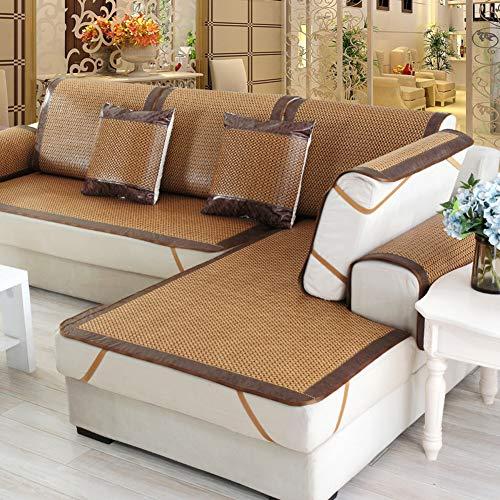 TT&CC Rattan Sofa Towel,Summer mat Chaise Longue Waterproof Living Room Easy Care Non-Slip Combination Sofa Cover Simple Sofa Protector-C 80x240cm(31x94inch)