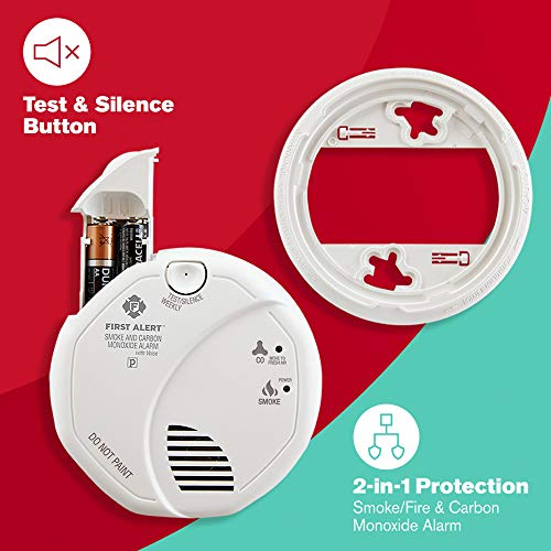 First Alert SCO7CN Battery-Operated Talking Combination Smoke and Carbon Monoxide Alarm with Voice Location, Photoelectric
