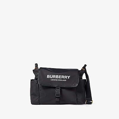 Burberry Kids Flap Diaper Bag (Black 2) Diaper Bags