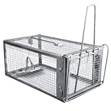 Gingbau Humane Rat Trap Live Mouse Cage Trap for Indoors and Outdoors