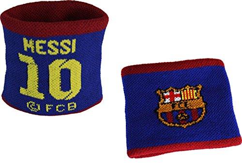 Barca Schweißband –Aufschrift: Lionel Messi–Offizielle Kollektion FC Barcelona
