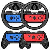 Joy-Conハンドル マリオカート Switch ジョイコンハンドル joy-con カバー Y044(黒 /4点セット) momen®