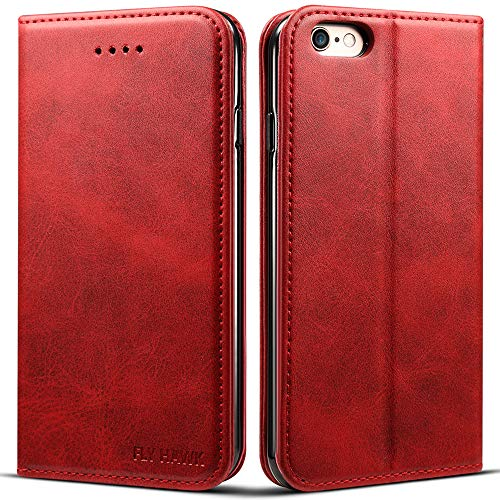 Wallet Case Compatible 2019 iPhone 11 Pro Max, PU Leather Wallet Flip Cover Book Style Folio Stand View Kickstand with ID Credit Card Pockets for iPhone XI Pro Max Credit Card Holder, Red, 6.5 inches