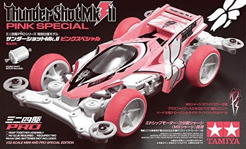 Tamiya 95465 Mini 4WD PRO Thunder Shot Pink Telaio MS [Limited Edition] 1/32 Kit Montaggio