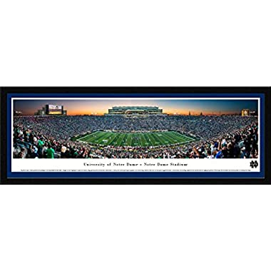 Notre Dame Football - Single Mat, Select Framed Print by Blakeway Panoramas