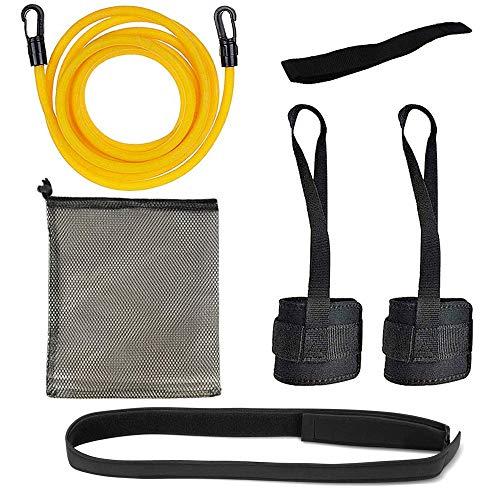 KINMAD Swimming Resistance Training Belt Cord, 2M Adjustable Pool Swim Training Tether Swim Harness Static Swimming Belt Cord for Kids and Adults Swimming Training