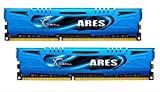 G-Skill Ares F3-1866C10D-16GAB 16 GB (8 GB x 2) DDR3-1866 Non-ECC Memory Modules with Low Profile Heat Spreader - Blue