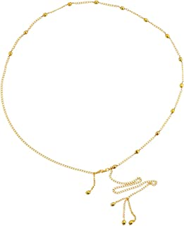 VAMA FASHIONS White Golden Beads Fancy Waist Belt Hip Chain for Women