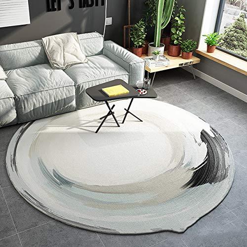 SODKK 150cm Rund Schlafzimmer Teppiche* Teppichbodenmatte Pflegeleicht für Kinderzimmer Esszimme