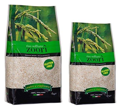 Zoorì Riso soffiato vitaminizzato 100% Italiano - 4 kg