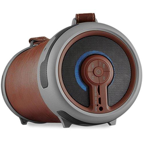 IMPERIAL BEATSMAN 2 Mobiler Bluetooth 2.1 Lautsprecher mit UKW Radio (MicroSD Kartenleser, AUX Eingang) (Zertifiziert und Generalüberholt), Farbe:braun