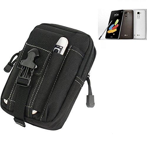 K-S-Trade® Gürtel Tasche Für LG Stylus 2 DAB+ Gürteltasche Schutzhülle Handy Hülle Smartphone Outdoor Handyhülle Schwarz Zusatzfächer