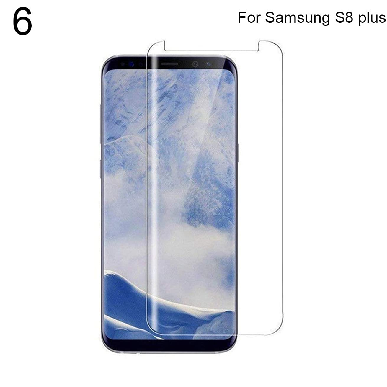 Gyswshh Tempered Glass, Screen Protector ,Nano UV Liquid Glue for Samsung Galaxy S9 S8 Transparent for Samsung Note 8