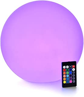 LOFTEK LED Light Ball : 12-inch RGB Colors Light Sphere with Remote Control, Cordless Floating Pool Lights, IP68 Waterproof and Rechargeable Battery, Sensory Toys for Kids, Home, Garden, Party Decor