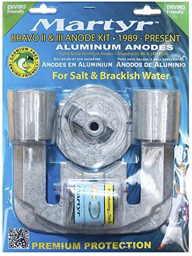 Martyr CMBRAVO23KITA Aluminum Alloy Merc Bravo 2&3 Mercury Anode Kit Aluminum
