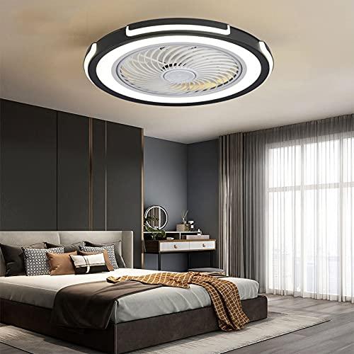 HHGM Ventilador de Techo LED Ventilador de Techo con luz y Mando a Distancia Invisible Ventilador de Techo luz Ventilador Techo con Luz y Mando a Distancia Iluminacion Led