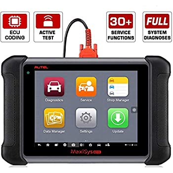 Autel MaxiSys MS906 Automotive Diagnostic Scanner with Bi-Directional Control Key Fob Programming ECU Coding ABS Bleeding Brake  Advanced Version of MaxiDAS DS708 DS808
