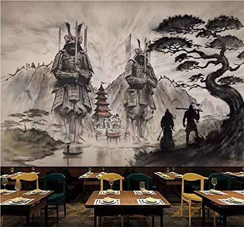TDG Papel Tapiz Papeles De Pared Papel Pintado Autoadhesivo Personalizado Mural Atmosférico 3D Nuevo Japón Samurai Ukiyoe Samurai Restaurante Creativo Pared De