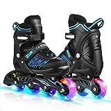 Caroma Inline Skates for Kid Adult Adjustable Roller Blades with Light Up Wheels Inline Skate Shoe...