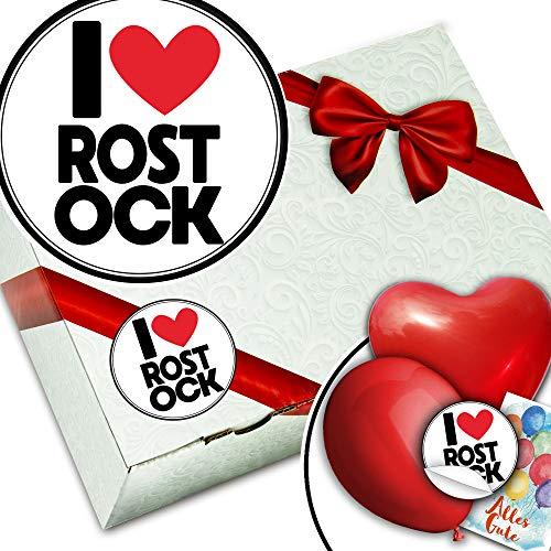 I love Rostock + Geschenkschachtel Set + Geschenkartikel Rostock