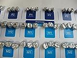54PCS:Dental Aluminum Temporary Crown (Premolar 6sizes + Molar 12sizes) *3EA...