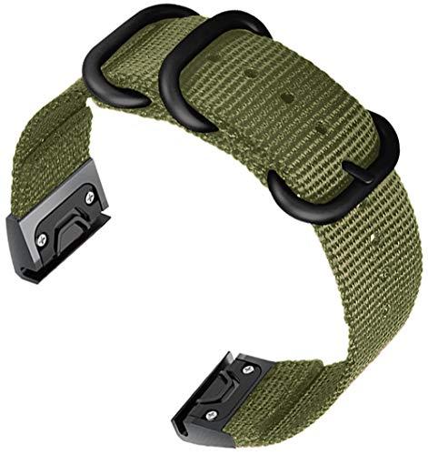 Shieranlee Compatible with Fenix 5 Watch Strap,22mm Nato Woven Nylon Quick Cinturino Compatibile con Fenix 5 Fenix 5 Plus Forerunner 945 Approach S60 Quatix 5 Fenix 6 Fenix 6 PRO