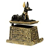 Unbekannt Schmuckdose Truhe ägyptischer Gott Anubis Schakal klein zum öffnen