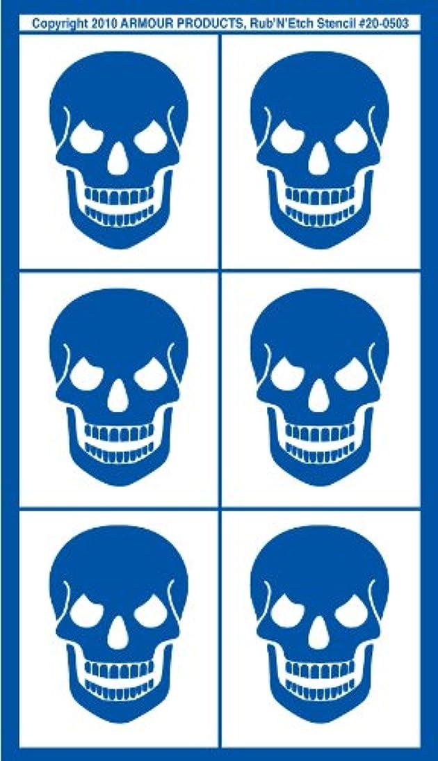 Armour Etch Rub N Etch Stencil Skulls, 5-Inch by 8-Inch