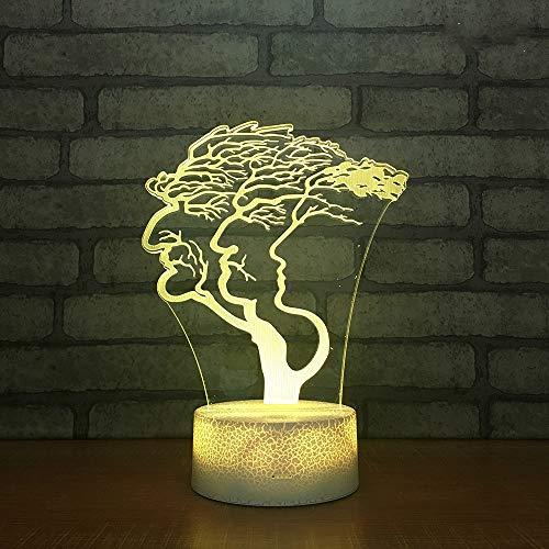 Visuelle Quelllampe, Wunsch Baum Vision Stereo 3D Lampe Gradual Touch 7 Farbtabelle Nachtlampe Fabrik Spot Pflanze Nachtlicht Geburtstag LED Kinderschlaflicht Batterie