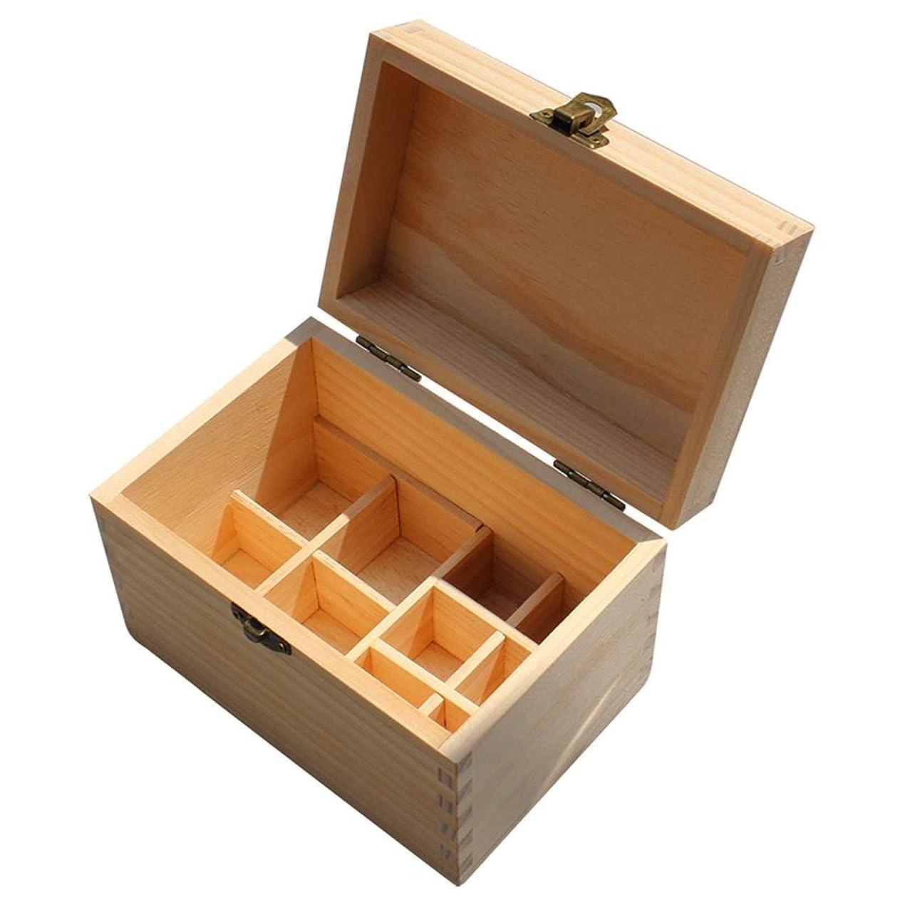 ライバル含むデッド10スロット木エッセンシャルオイルボックスオーガナイザーパーフェクトエッセンシャルオイルケース 香水フレグランス (色 : Natural, サイズ : 16.2X10.8X11CM)