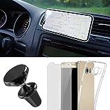 EximMobile Handyhalterung Auto Handyhalter Set + Handyhülle + Schutzfolie kompatibel mit Motorola Moto G 3 Generation Handytasche Schutzhülle Lüftung KFZ Halterung PKW Magnet 360 Navi Halter