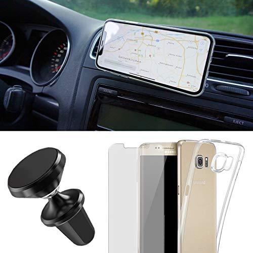EximMobile Handyhalterung Auto Handyhalter Set + Handyhülle + Schutzfolie kompatibel mit Huawei Ascend Mate 7 Handytasche Schutzhülle Lüftung KFZ Halterung PKW Magnet 360 Universal Navi Halter