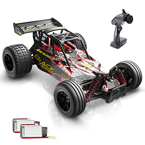 DEERC 9305E RC Cars High Speed Remote Control Car for Adults Kids Boys,1:18 Scale 25+ MPH 4WD All Terrain Off Road Monster Trucks,2.4GHz Rally Buggy Toys with 2 Rechargeable Batteries for 40+ Min Play