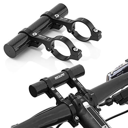 GUB Fahrrad Lenker Erweiterung Befestigungsadapter für Scheinweifer, Computer, Navi usw. Schwarz