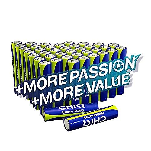 CHiQ Pilas alcalinas AAA, Pack de 40 Unidades AAA/1.5V/LR03