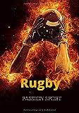 Rugby passion sport: Carnet de bord 100 pages | format 7x10 pouces | thème rugby | avec lignes standard à remplir