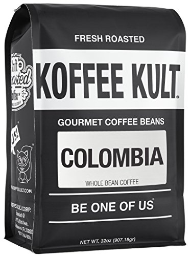 Koffee Kult Colombia Coffee Beans Huila Region Medium Roast (Whole Bean, 32oz)