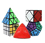 Icollect Shengshou Cubo Puzzle Deluxe Set (Incluye Skewb, Megaminx dodecaedro, Pyraminx, Espejo, Mastermorphix)