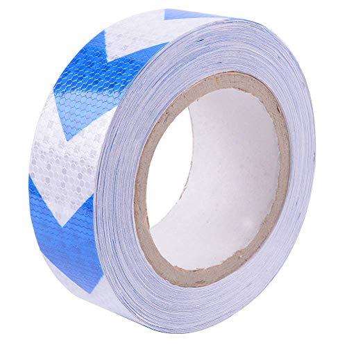 Reemky Sicherheit Reflektierende Warnblinker Pfeil Band Reflektor Aufkleber Blau und Weiß Länge Optional 2