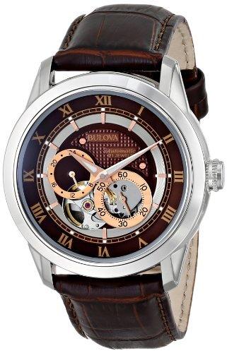 Bulova 96A120 - Reloj de Pulsera Hombre, Acero Inoxidable, Color Marrón