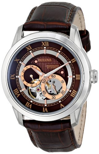 Bulova Classic Automatic Mens Stainless Steel with Brown...