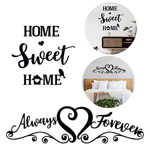 2pcs Pegatinas Pared Vinilos Frases Letras Motivadoras Stickers Adhesivos Negro Decoración Habitación Dormitorio Salón