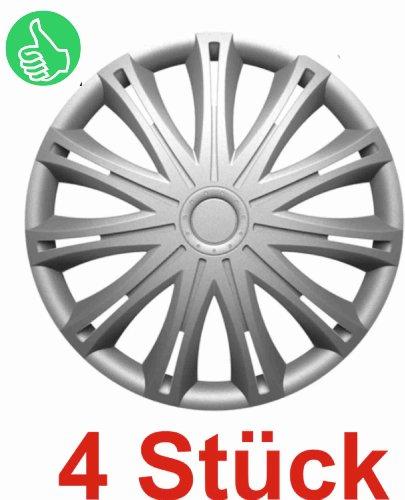 RAU Universal Radzierblende Radkappe Silber 17 Zoll für viele Fahrzeuge passend