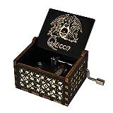 Evelure Caja de música de Madera de Queen, Cajas de música de Madera talladas a Mano y creativos tallados a Mano Los Mejores Regalos (Black-C)