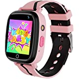 Kids Smartwatch with GPS LBS Double Positioning Tracker Phone Call Waterproof Smart Watch for Kids SOS Games Camera Pedometer Voice Messages Flashlight Alarm Clock for 3-12 Years Old Kids