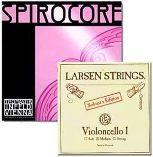 Cello Strings 4/4 Set Larsen Solo A+D, Spirocore Tungsten G+C